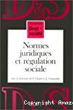 Normes juridiques et régulation sociale.