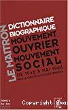Le Maitron : dictionnaire biographique, mouvement ouvrier, mouvement social. Période 1940-1968. De la seconde guerre mondiale à mai 1968. Tome 3. Ca à Cor.