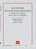 Cognition et sciences sociales.