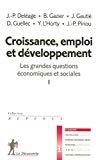 Croissance, emploi et développement.