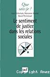 Le sentiment de justice dans les relations sociales.