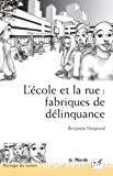 L'école et la rue : fabriques de délinquance. Recherches comparatives en France et au Brésil.