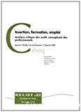 Insertion, formation, emploi