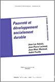 Pauvreté et développement socialement durable.