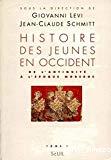 Histoire des jeunes en Occident. Tome 1. De l'antiquité à l'époque moderne.