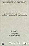 L'agent de développement local. Emergence et consolidation d'un profil professionnel.