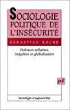 Sociologie politique de l'insécurité. Violences urbaines, inégalités et globalisation.