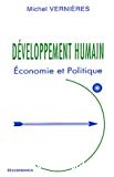 Développement humain : économie et politique.