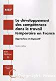Le développement des compétences dans le travail temporaire en France
