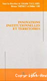 Innovations institutionnelles et territoires.