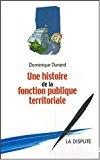 Une histoire de la fonction publique territoriale.