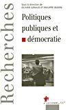 Politiques publiques et démocratie.
