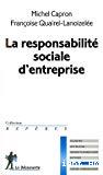 La responsabilité sociale d'entreprise.