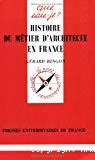 Histoire du métier d'architecte en France.