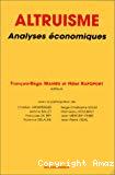 Altruisme. Analyses économiques.