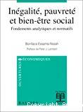 Inégalité, pauvreté et bien-être social. Fondements analytiques et normatifs.