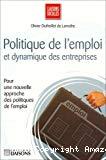 Politique de l'emploi et dynamique des entreprises.