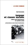 Langage et classes sociales