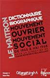 Le Maitron : dictionnaire biographique, mouvement ouvrier, mouvement social. Période 1940-1968. De la seconde guerre mondiale à mai 1968. Tome 9. Mem-Pen