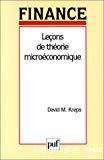 Leçons de théorie microéconomique.