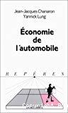 Economie de l'automobile.
