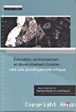 Education, environnement et développement durable