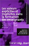 Les valeurs explicites et implicites dans la formation des enseignants