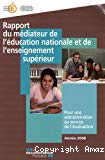 Rapport du médiateur de l'éducation nationale et de l'enseignement supérieur
