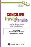 Concilier travail et famille : le rôle des acteurs France-Québec. Le rôle des acteurs France-Québec.
