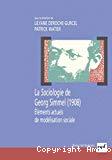 La sociologie de Georg Simmel (1908). Eléments actuels de modélisation sociale.
