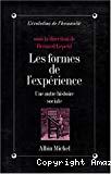 Les formes de l'expérience. Une autre histoire sociale.