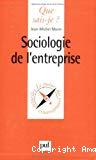 Sociologie de l'entreprise.